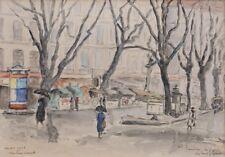 Marktplatz in Grenoble, Impressionist signiert
