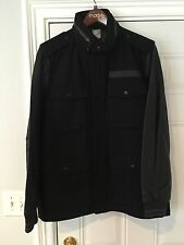 NWT Mens Nike Black M65 Leather Varsity Destroyer Wool Jacket Coat XL 512824