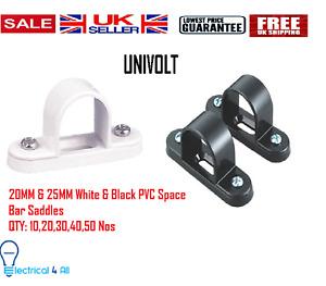 20MM/25MM Black/White Plastic Pvc Conduit Saddles Spacer Bar Saddles Wall Fixing