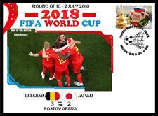 BELGIUM V JAPAN 2018 FOOTBALL WORLD CUP ROUND 16 MATCH COVER - EDEN HAZARD