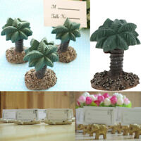 Hawaii Beach Palm Tree Elephant Name Place Card Holder Wedding Party Table Gifts