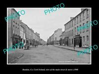 OLD LARGE HISTORIC PHOTO OF BANDON Co CORK IRELAND, THE MAIN ST & STORES c1900 1