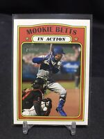 2021 Topps Heritage Mookie Betts In Action #168 Los Angeles Dodgers
