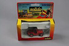 ZC724 Solido 2114 Véhicule Miniature Metal 1/43 Jeep Moto Sapeurs Pompiers