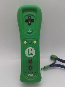 Official OEM Nintendo Wii Remote Motion Plus Controller Luigi w/Rubber Case