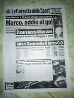 LA GAZZETTA DELLO SPORT N. 194 DEL 18 AGOSTO 1995 - VAN BASTEN MARCO JUVE (GS11)