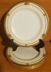 "Noritake CHAVOT GOLD Bread plate set(s) of 4, 6 3/4"", 4769, Gold, Excellent"