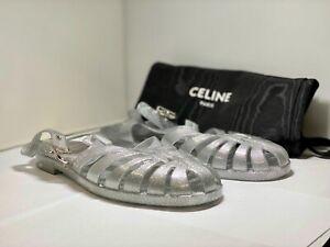 Celine Silver Tone Beach Sandals US6.5 /EUR39