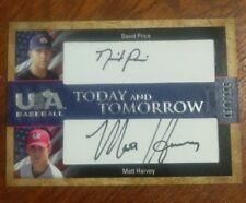 David PRICE Matt HARVEY Rookie Dual Auto Card #110/295 USA 2007 Today Tomorrow