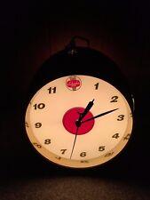 Vintage Schaefer Beer Clock Sign Faux Barrel On Tap Light Lighted Bar Pub Cave