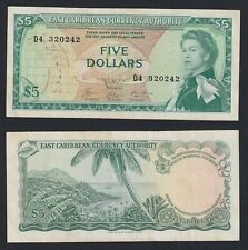 East Caribbean 5 dollars 1965 BB+/VF+  C-06