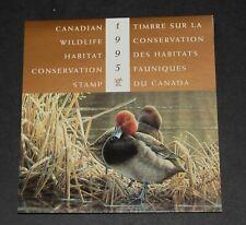 Canada Wildlife Habitat Conservation (Ducks) 1995 complete booklet
