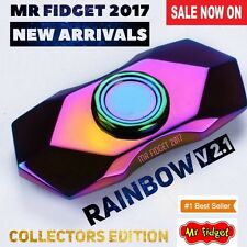 Rainbow Tri Hand Spinner Figet Finger EDC Spin Focus Toy ADHD Autism Gyro V2.1