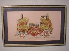 Vintage Circus Wagon Folk Art Painting George DaDeppo Illustration Michigan Art