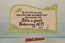 DR SEUSS HALLMARK PLAQUE~LIFE'S A GREAT BALANCING~RESIN~NEW~FREE SHIPPING IN US~