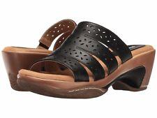 Rialto Vespa Women's Sandal, Black Smooth, 6 B(M) Shoe