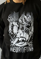 Neurofunk Alien Sweatshirt Junglist Jungle Rave Drum & Bass Breakbeat Men's DnB