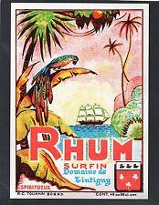RHUM VIEILLE ETIQUETTE RHUM SURFIN  PERROQUET       §21/01§