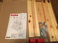 FLEXA #7156813/80015101  EXTENSIONS TO PUT TWIN ON TOP OF FULL BED, NATURAL NIB!