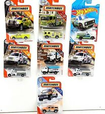 Matchbox Emergency and City Service Vehicles Lot of 7 1:64 Diecast Sealed