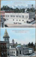 San Bernardino, CA 1910 Postcard: D Street, 4th St. - California Cal