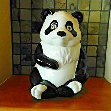 VINTAGE METLOX PANDA BEAR COOKIE JAR / MARKED METLOX Made in the USA