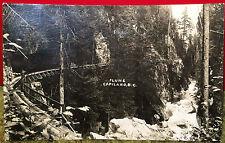 Flume, CAPILANO, British Columbia, CANADA, Photo Post Card 1921