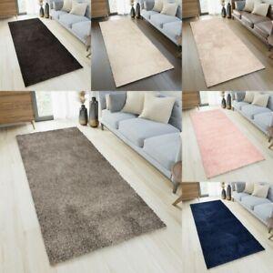 Shaggy Hallway Runner Rugs Long Narrow Plain Soft Fluffy Plush Bedroom Carpet