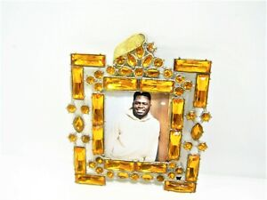 Gold Rhinestone Wall Hanging Ornament small Photo Frames for 2x2 inch photo