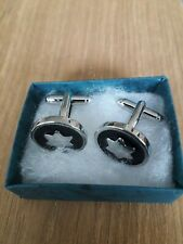 Mens Silver Plated Cufflinks -  New With Presentation  Box