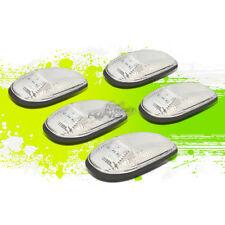 CHROME HOUSING AMBER LED ROOF TRUCK RUNNING LIGHT KIT FOR 99-01 DODGE RAM BR/BE