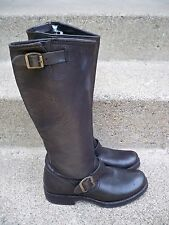 $368 Frye 77605 Veronica Slouch Harness Riding Motorcycle Leather Womens Boots 6