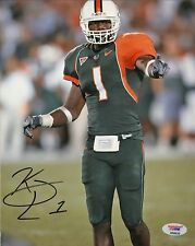 Kenny Phillips Signed Miami Hurricanes 8x10 Photo PSA/DNA COA Autograph Picture