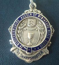 MEDAGLIA d'argento di ripresa 1932 Gloucestershire Associazione dei club FUCILE in MINIATURA
