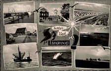 Langeoog AK 1964 Insel Ostfriesland Mehrbildkarte Nordsee Robbe Fischerboot Boot