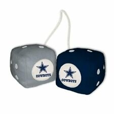 DALLAS COWBOYS PLUSH FUZZY DICE CAR MIRROR DANGLER NFL FOOTBALL