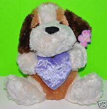 """DOG PLUSH DOLL VALENTINE 12""""-14"""" CUTE BIRTHDAY GIFT BROWN PUPPY NWT CUTE STUFFED"""