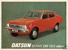 Datsun Nissan Sunny 120Y GLS Saloon 1977-78 UK Market Single Sheet Brochure