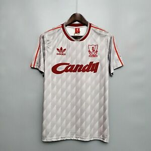 1989/91 Liverpool Away Gray Retro Soccer Jersey
