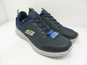 Skechers Men's Elite Flex Lace-Up Belburn Athletic Sneakers Navy/Lime Size 14M