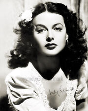 "Hedy Lamarr (actress, inventor) 8""x10"" Autographed Black & White Photograph"