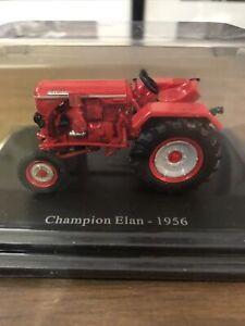 TracteurChampion Elan 1956 1/43 Rouge Véhicule Agricole Collection Hachette