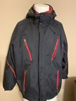 NIKE ACG Therma Fit Removable Liner Thick Mens Hooded Black Red Jacket Large L