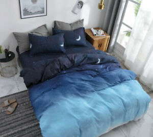 Night Blue Duvet/Doona/Quilt Cover Set - Queen/King/Super King Size Bed New M392