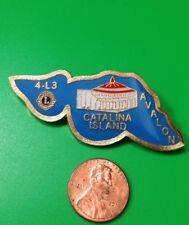 CITY OF AVALON CATALINA ISLAND CALIFORNIA U.S.A. 4-L3 LIONS PIN