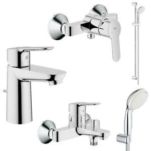Grohe BauEdge und Tempesta Bad Armaturen Sets, Waschtisch, Brause, Wanne, Dusche