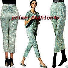 Dolce & Gabbana Baroque Opulence Aquamarine Jacquard brocade Cropped  pants