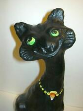 Fenton BLACK HALLOWEEN CANDY CORN Artist Sample OOAK ALLEY CAT Marked M. Kibbe