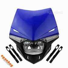 Street Fighter Motocross Dual Sport Headlight Head Lamp For Yamaha YZF YBR XT WR