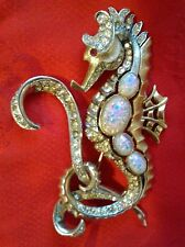 Marcel Boucher Signed Vintage 1938 Large Rare Seahorse Pin Brooch